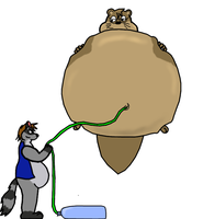 Ballooned Otter by Frank-Raccoon