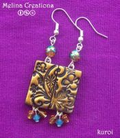 summer colours earrings by MelinaCreations