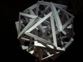 Ten Interlocking Triangular Prisms by musicmixer112