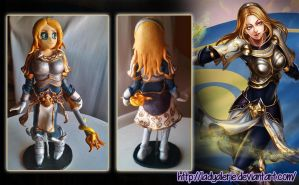 Lux fimo clay (painted) - League of Legends by LadyAlerie