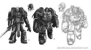 Spacemarines by davidhueso