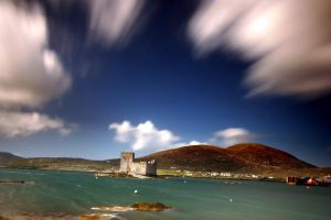 Kisimul Castle cloud whooshing by paddimir