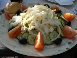 Feta cheese salad by Hansmar