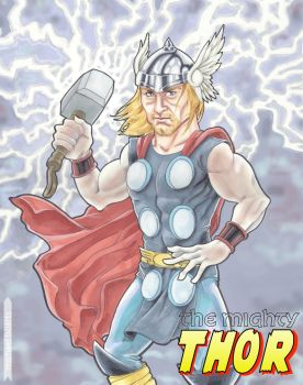 The Mighty Thor by michaelboarts