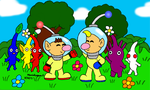 Olimar and Louie by MarioSimpson1