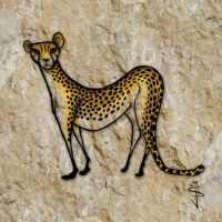 Cave-Art-Africa-Cheetah by NorthumbrianArtist