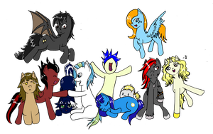 Tuga-Bronies: ALL THE PONIES! by deerly-hime
