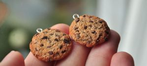 Chocolate chip cookies / polymer clay by Aagrafka