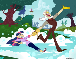 A Bubbly Day With Discord by QuinePeather