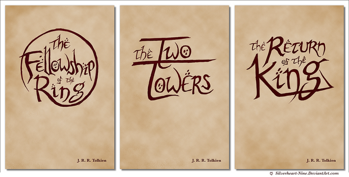Lord of the Rings book cover designs by Silverheart-Nine