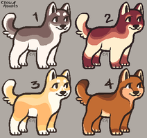 Puppy adopts (CLOSED) by CrowDesigns