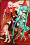 -TDA Hatsune Miku Jade and Megurine Luka Ruby dl- by ChocoFudge98
