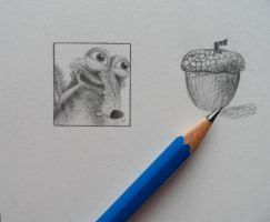 Nuts for nuts! Scrat miniature by Joanna-Vu