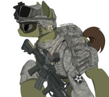 2nd Infantry Division Pony by EquestrianMarine