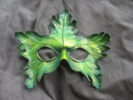 Small Greenman Mask by MummersCat