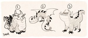 HTTYD Style Dragons Sketch by DablurArt