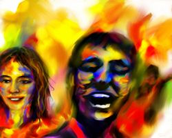 United colors of Holi by paragpendharkar
