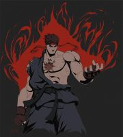 Evil Ryu T-Shirt by Tongman