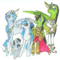 Guardian Family COLORED by FountainStranger