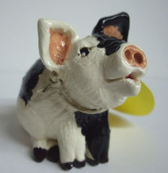 Black and White Pig Whistle by Fourpawpotter