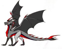 Dragonized TFP Starscream by Deathtail-The-DraCon