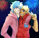 Happy new year!! [speedpaint] by BlazingFlareonX