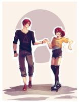Commission   Rin and Gou by jojo215