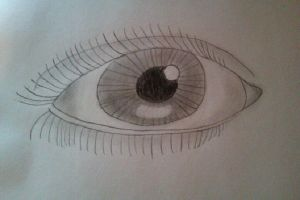 realistic eye drawing by TimelessOcean
