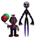 FnaF[SL]   -  Funtime Puppet and BB by KeroCraft1395