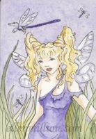 Dragonfly Fairy ACEO by ellenmillion