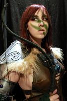 Preparing for a good hunt - Aela the Huntress by Gekroent
