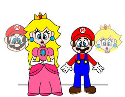 Mario and Peach bodyswap by t00ngaming