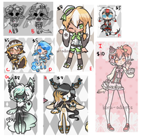 unsold adopts roundup {set price} OPEN C+D LEFT!! by Koru-Adopts