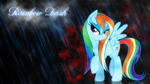 Wet RainbowDash Wallpaper by ALoopyDuck