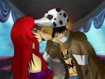 Our first kiss by Midori-Egami