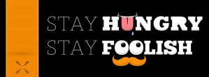 Stay Hungry, Stay Foolish Facebook Cover by Jaredk8