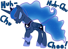 Princess Luna Sneezing by MasterXtreme