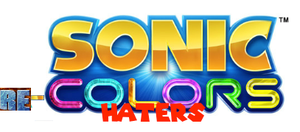 My sonic recolors  haters logo by supermariofan54321