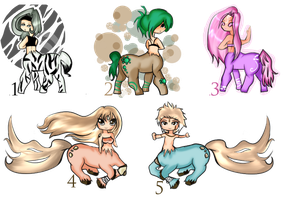 Adoptable Centaurs  CLOSED by Yas-mi-ne