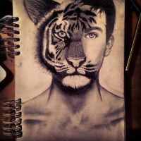 The tiger boy by TheWildKid