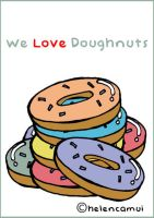 We Love Doughnuts by helencamui