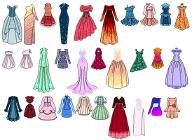 Colored dresses for Amela-xD by Lulle313