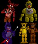 FNAF 1 Animatronics pack by RealMoonlight
