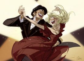 baccano - isaac and miria by chirart
