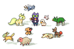 a tiny menagerie by rainslick