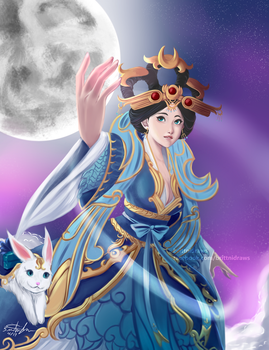 Chang'e by BrittniDraws