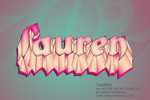 Lauren -All Vector TextArt Sig by nymphont