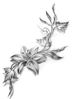 Flower Tattoo Design by inkaddicted4life