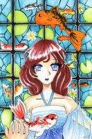 Stained Glass Koi by oXxSunlitRosesxXo