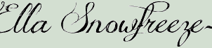 Chi-Ella's Storybook Name Font by ToxicSirenMLP